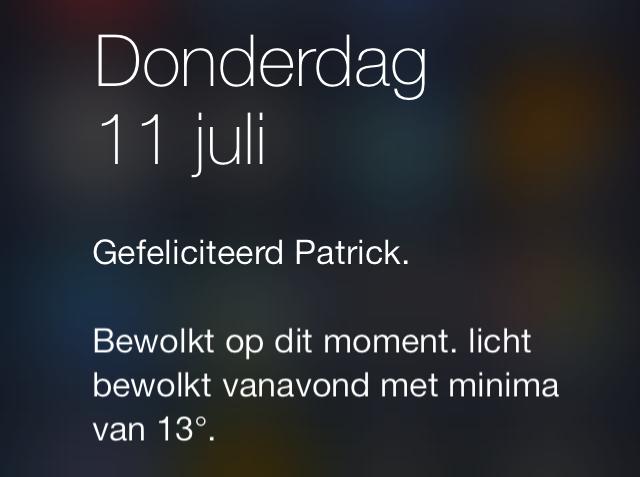 iOS 7 felicitatie