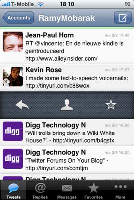 iOS app designs Tweetie