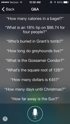 siri-vragen