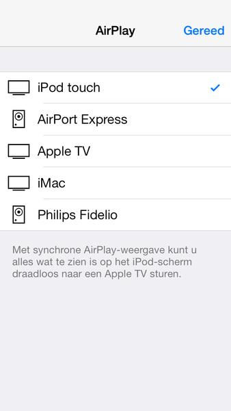 iOS 7 beta 4 AirPlay