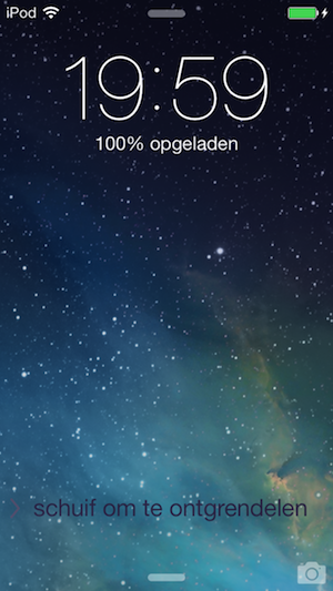 iOS 7 beta 4 beginscherm