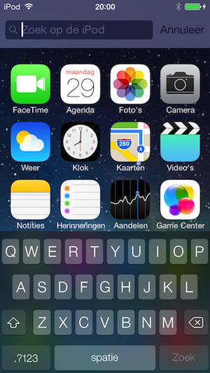 iOS 7 beta 4 spotlight