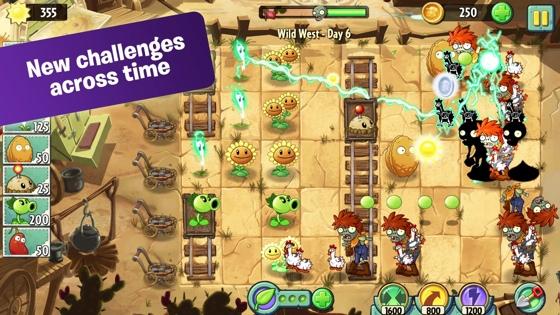Plants vs Zombies 2 iPhone vol screen