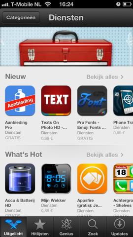 App Store categorie diensten