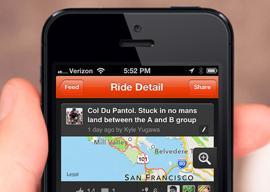 Strava Cycling iPhone header