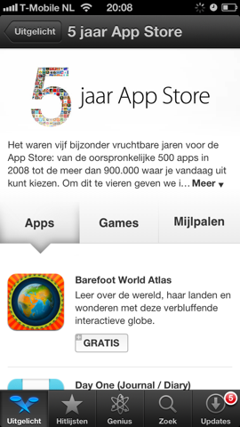 5 jaar App Store iPhone