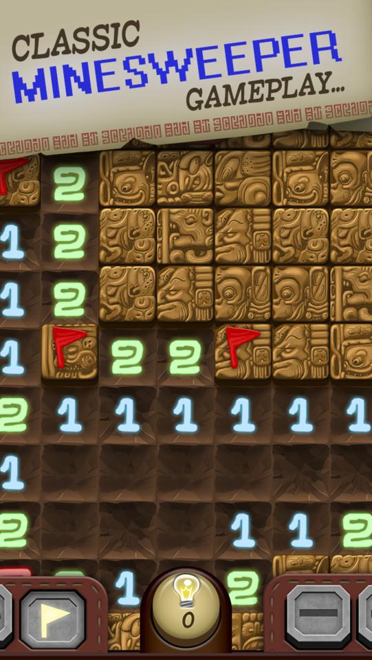 Temple Minesweeper iPhone screenshot
