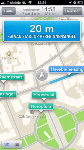 Apple Kaarten Maps navigeren