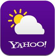 Yahoo Weer! weerapp iPhone