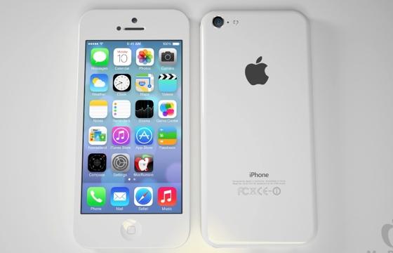 Budget iPhone wit voor en achter