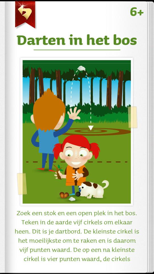 Ga-erop-uit Darten in het bos iPhone