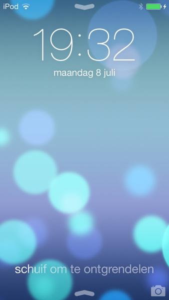 iOS 7 Beta 3 schuif om ontgrendelen