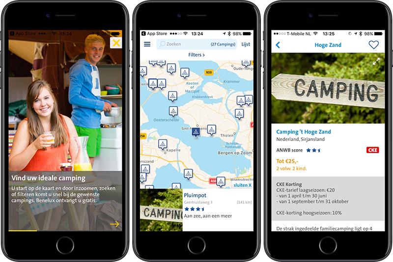 ANWB Camping app