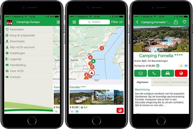 ACSI Camping-app