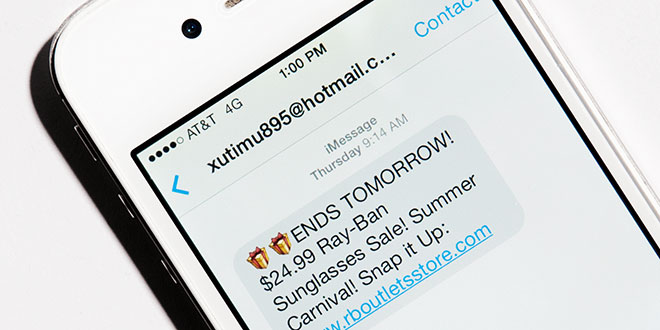 iMessage spambericht