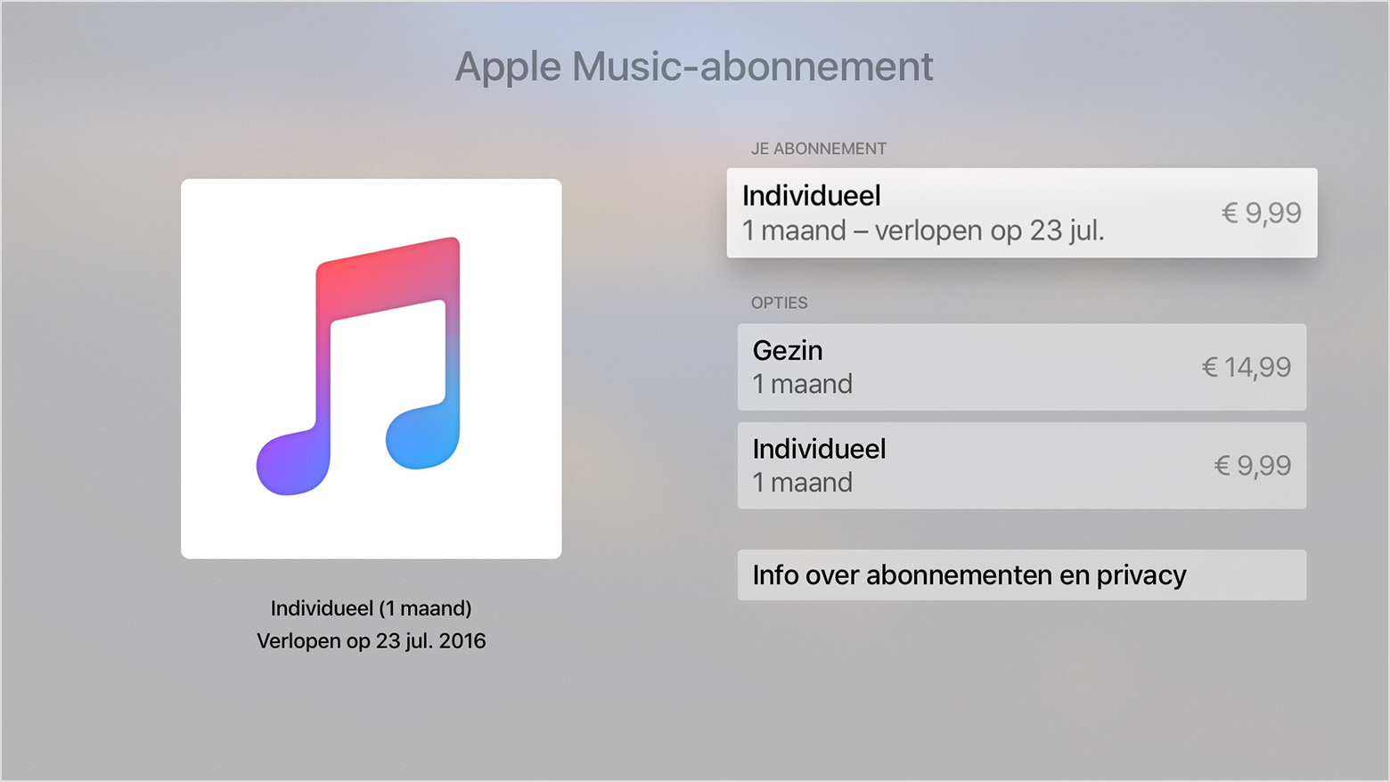 Apple TV abonnement opzeggen