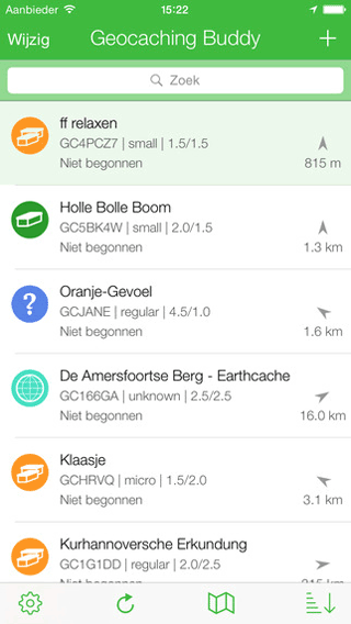 Geocaching Buddy-app