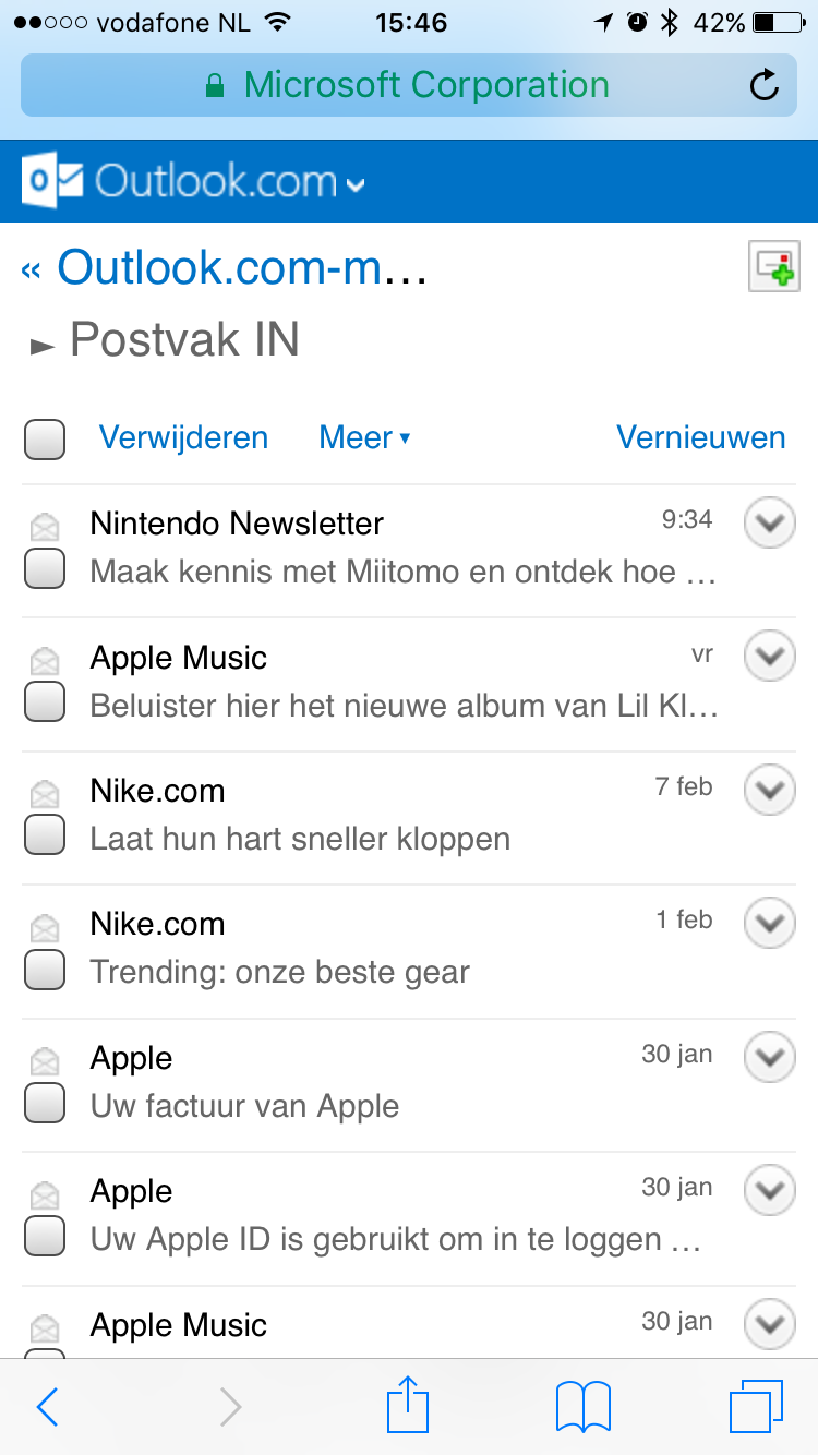 how to get outlook email on iphone