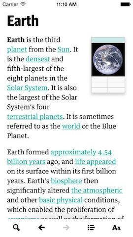 Wikiweb iPhone Aarde