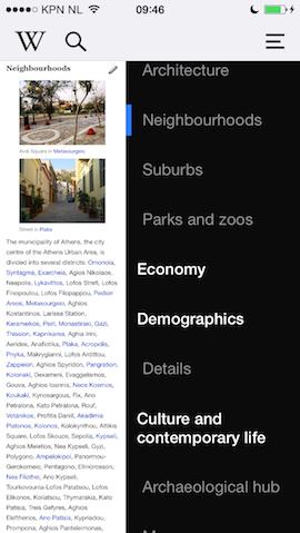 Wikipedia iPhone index artikelen