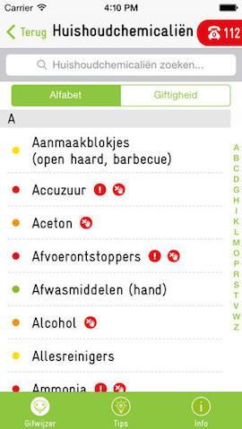 EHBO apps iPhone De Gifwijzer