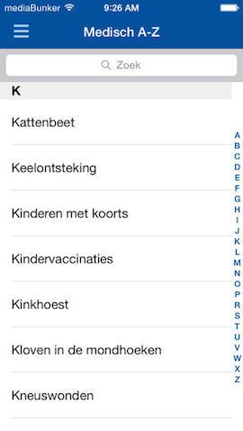 EHBO apps  iPhone medisch woordenboek