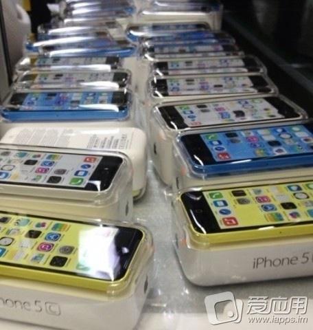 geel wit blauw iphone 5c