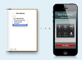 DeskConnect bellen vanaf de Mac iOS