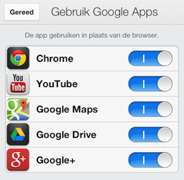 Google apps integratie