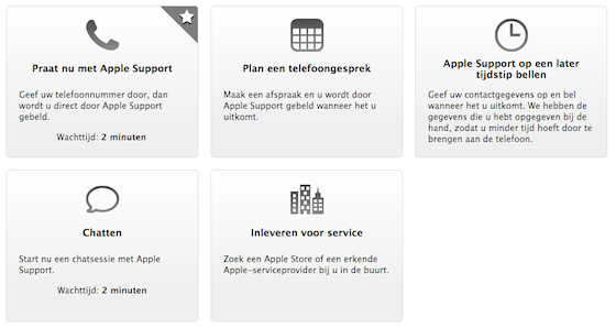 Apple Care chatsupport