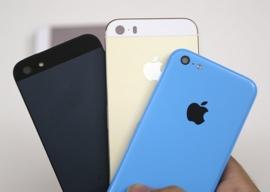 iPhone 5S champagne en iPhone 5C beelden