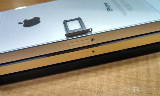iPhone 5S grijs simkaarthouder