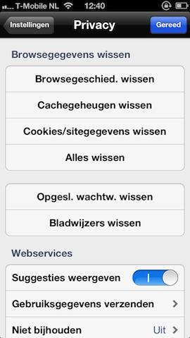 Gegevens wissen Chrome browsegeschiedenis