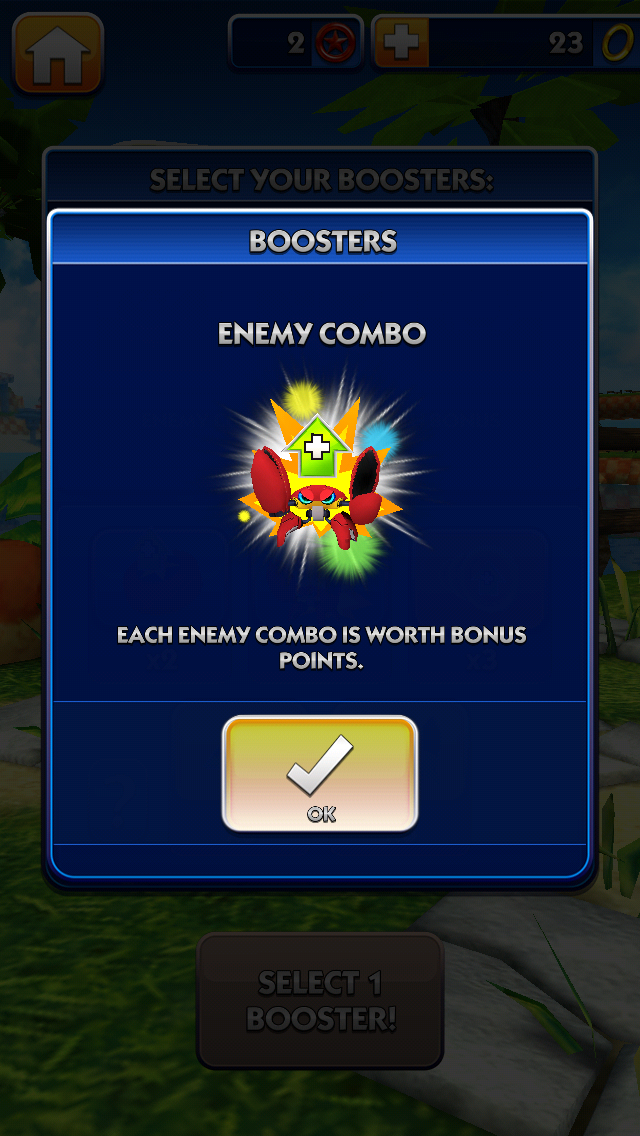 Sonic Dash Booster