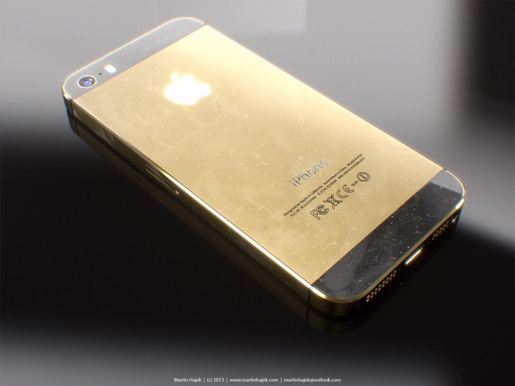 Gouden iPhone 5S Martin Hajek concept