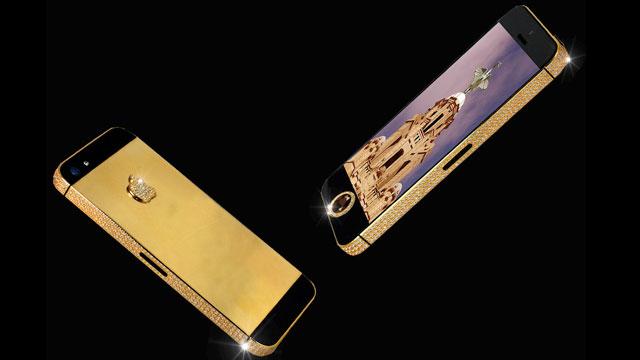 Gouden iPhone diamanten homeknop