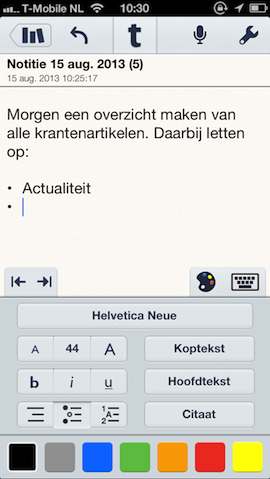 Notability notitie