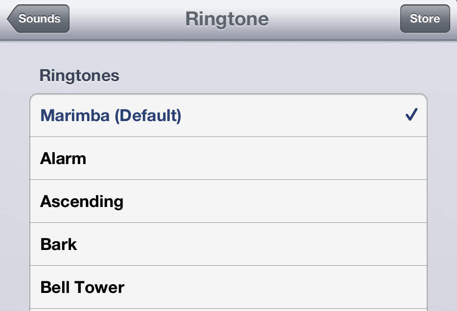 Marimba ringtone iPhone