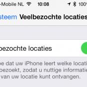 Apple verzamelt veelbezochte locaties in iOS 7: dit moet je weten