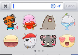 Facebook Messenger emoticons iPhone