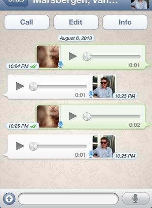 whatsapp iphone walkie talkie