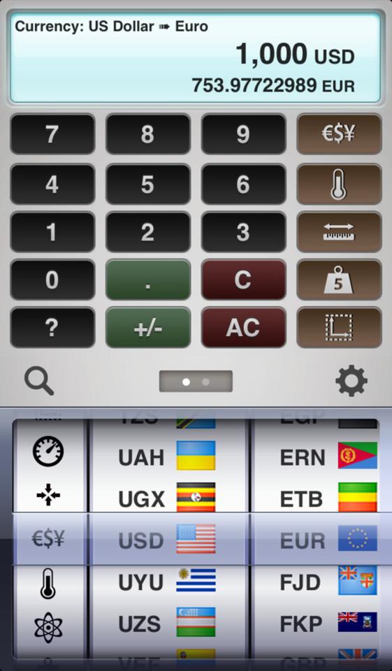 Measures valuta omrekenen iPhone