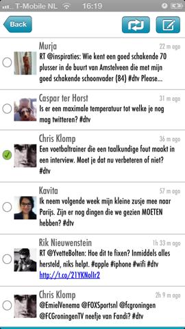 Trend for Twitter tweets met dtv