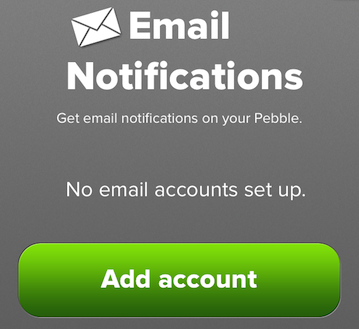 Pebble mail leeg