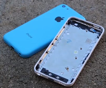 iPhone 5C youtube blauw