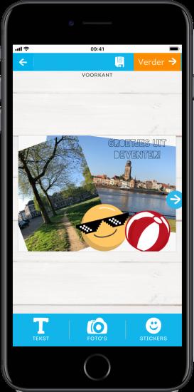 Apps om vakantiekaartjes te maken: Greetz
