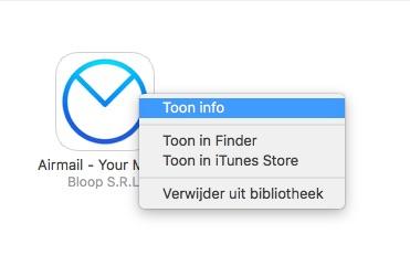 Airmail met meer info in iTunes.