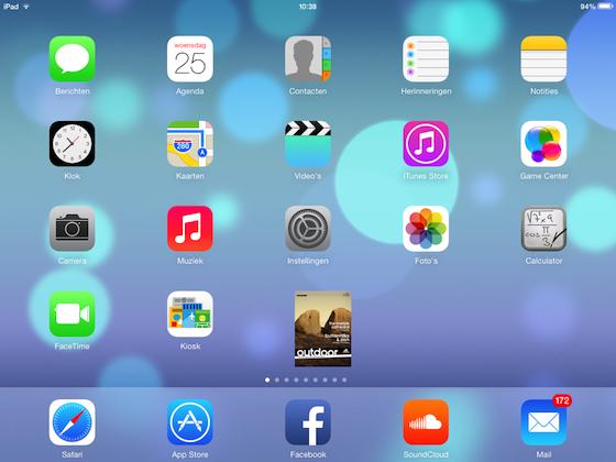 Kiosk iOS 7 bug