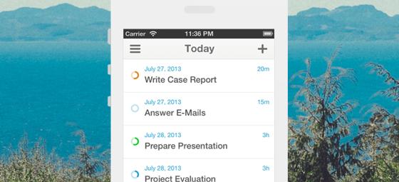 Todo-apps iOS 7 Finido Begin Remindfully header