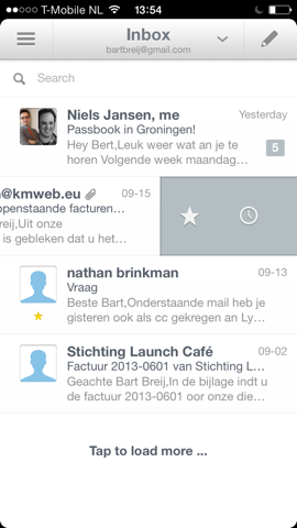 Seed Mail inbox iPhone